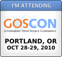 I'm Attending GOSCON - October 27-28, 2010 - Portland, OR