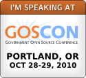 I'm Speaking at GOSCON - October 27-28, 2010 - Portland, OR